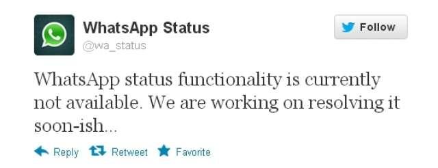 Whatsapp Promises To Fix Status Technology World