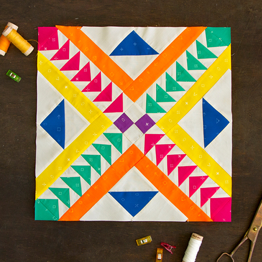 Pathway Quilt Block Free Tutorial designed by Melissa Boike of Live art gallery fabrics.