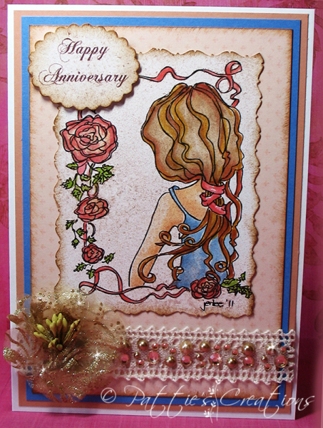 HAPPY ANNIVERSARY. We Have Received Beautiful Entries Such As This One By  Pattie Gomez Pattie Used The Digistamps 4 Joy Image Called Juliette