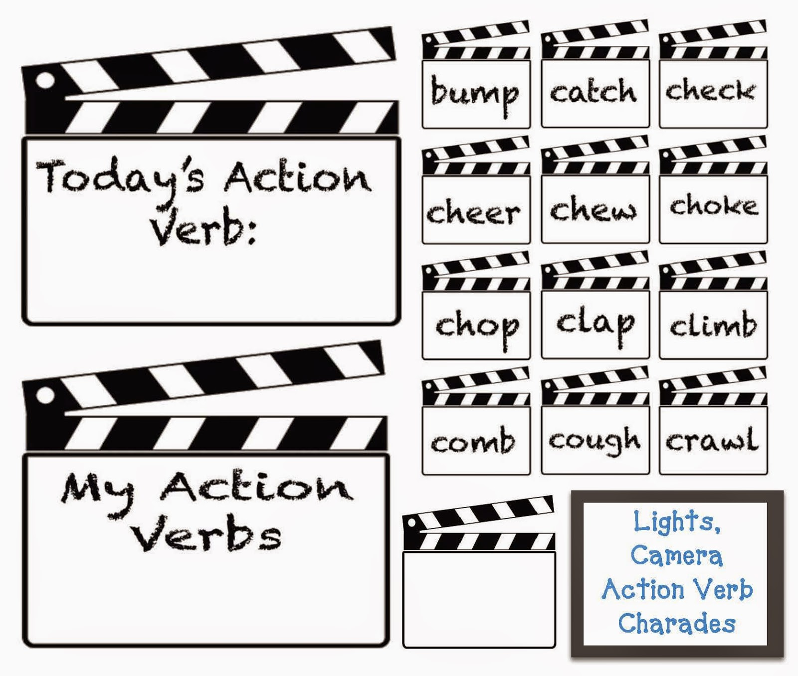 Charades Action Word List