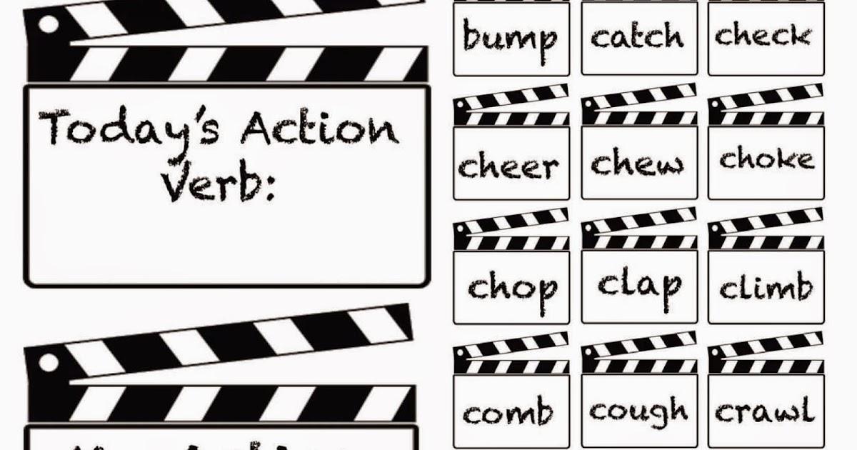 Classroom Freebies: Lights, Camera, Action Verbs Charades