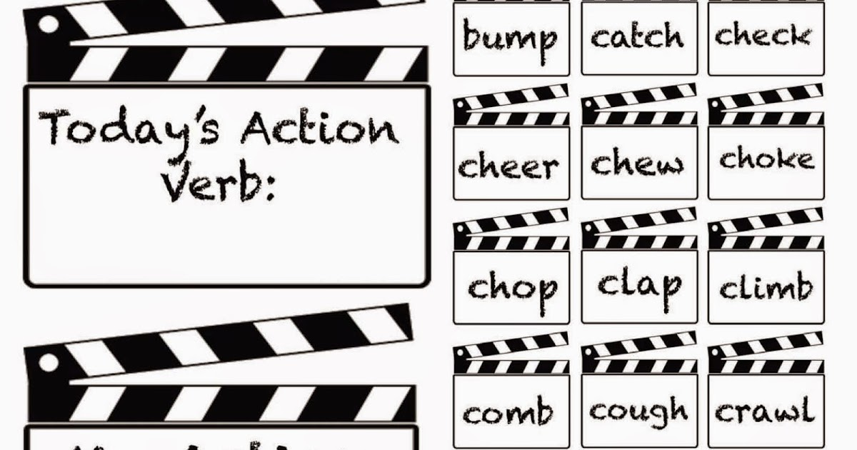 Classroom Freebies: Lights, Camera, Action Verbs Charades