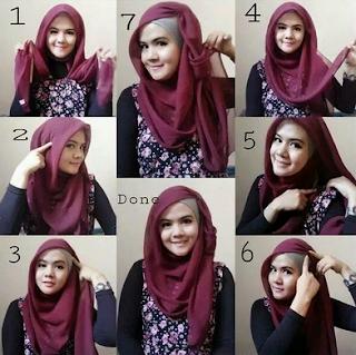 Hijab Segi Empat Paris Simple dan Cantik