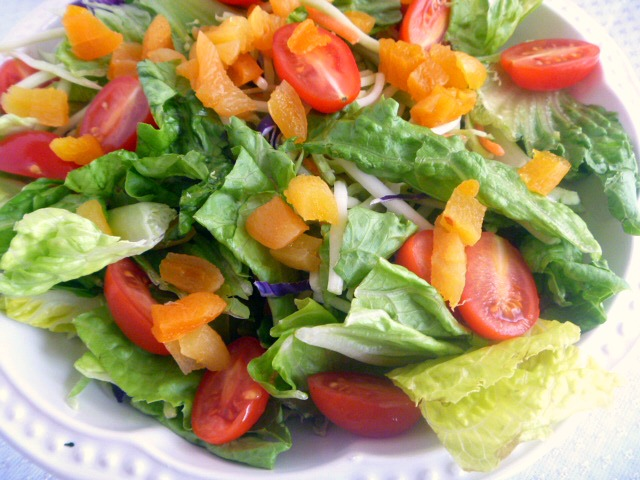Romaine and Apricot Salad: A wonderfully light and delicious salad of romaine lettuce, broccoli slaw with an apricot dressing. Perfect for the holiday! - Slice of Southern
