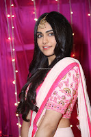 Adaa Sharma in White Pink Saree at Zee Telugu Apsara Awards 2017 15.JPG