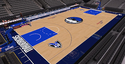 NBA 2K14 Dallas Mavericks HD Court Mod