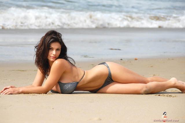 Denise-Milani-Beach-Silver-bikini-hottest-photoshoot-pics-29