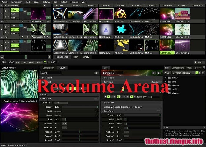 Download Resolume Arena 6.1.2 Full Crack, phần mềm thiết kế đèn LED quảng cáo, Resolume Arena, Resolume Arena free download, Resolume Arena full key, Thiết kế hình ảnh âm thanh màn hình ngoài trời