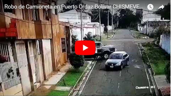Video del robo de una camioneta en Puerto Ordaz, Estado Bolívar