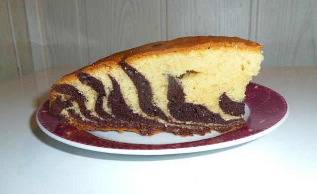 gâteau marbré, gâteau zèbre, joli gâteau marbré, gâteau marbré original