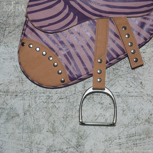 Dior, Justyna Anna Smółka, purse, saddle bag, vegan leather, washpapa, watercolours, Ujammaa Grandmas, John Galliano, HIV awareness, charity, guitar strap, purple,