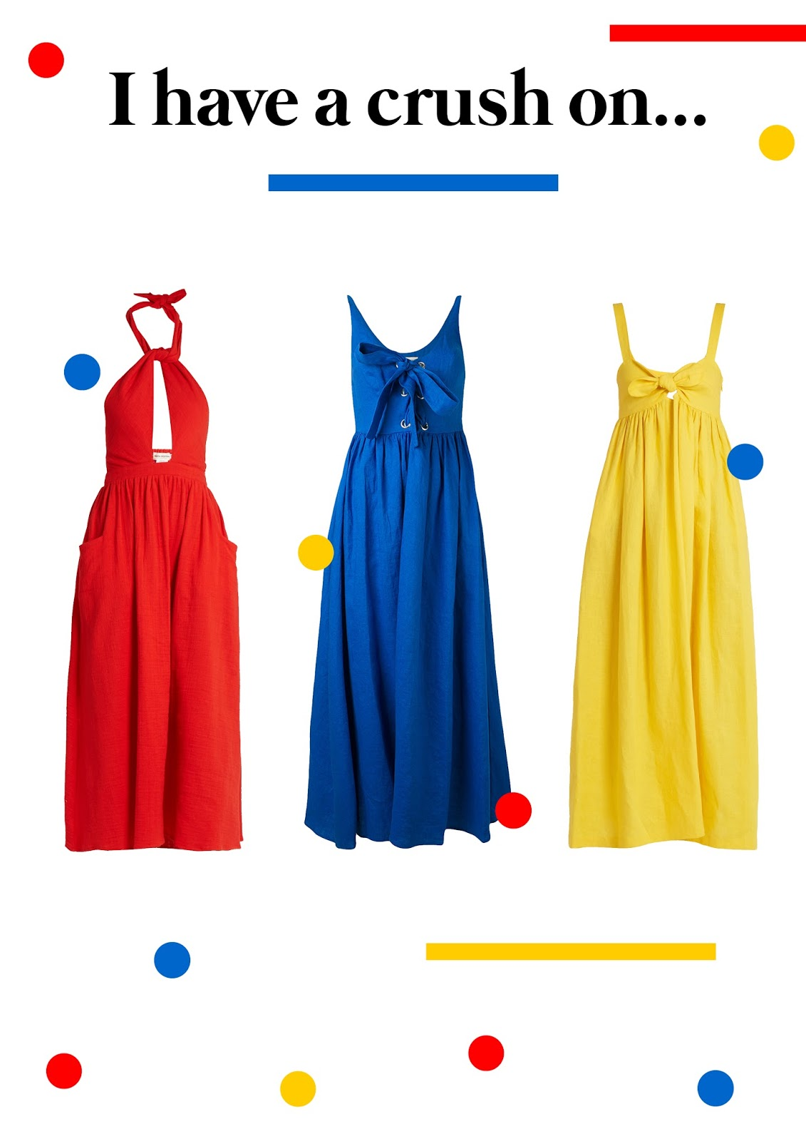 mara hoffman, ss17, summer, dresses, primary colours,