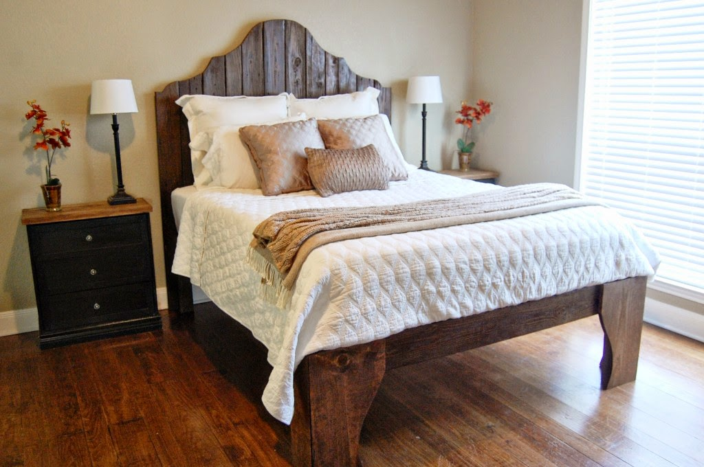 The cookie puzzle 10 diy rustic headboards - How to make a bed headboard ...