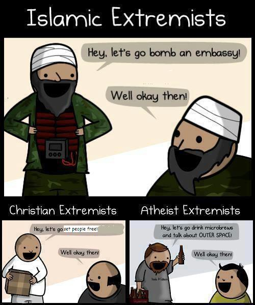 This was on FacebookReligious Extremism Cartoon