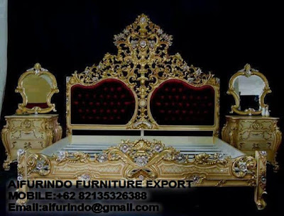 indonesia furniture,Interior Classic bed furniture sell Classic French bed Furniture,Aifurindo sell Classic bed Furniture and Antique reproduction bed Mahogany CODE  45