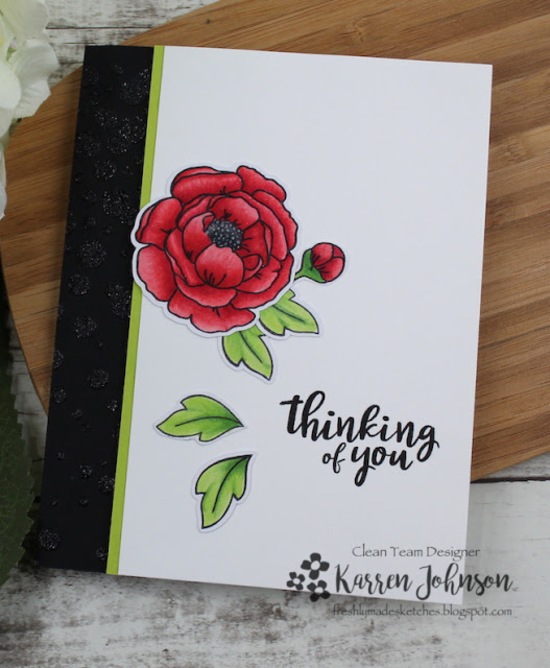 Thinking of you by Karren features  Peony Blooms by Newton's Nook Designs; #newtonsnook