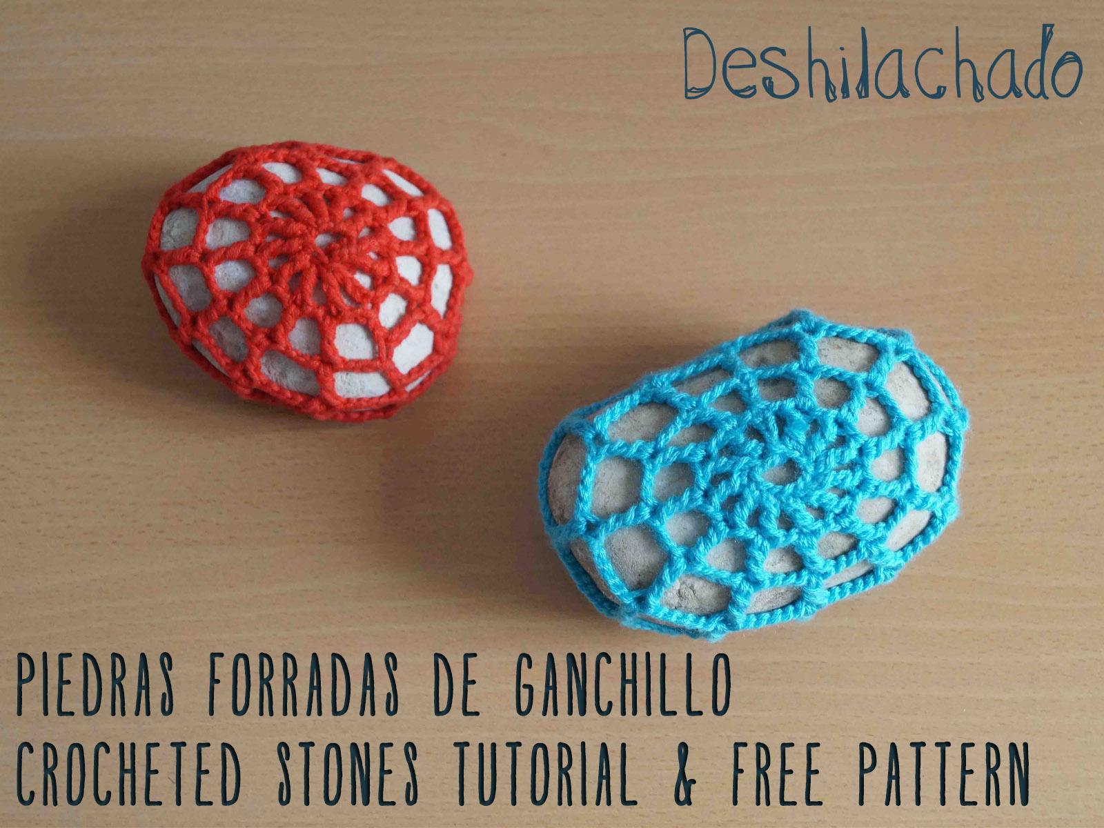 Deshilachado: Forrar piedras con ganchillo: tutorial y patrón ...