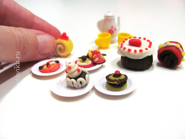 пирожные из теста для лепки своими руками