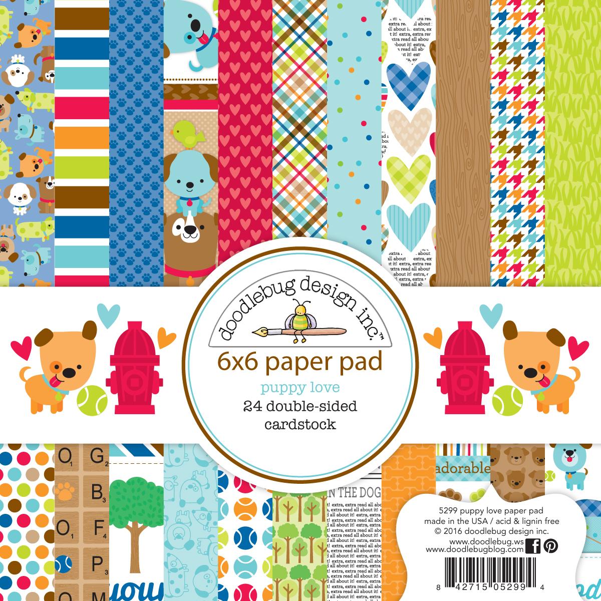 Scrapbook paper dogs - Doodlebug Design Inc Blog Spring 2016 Sneak Peek Puppy Love Collection