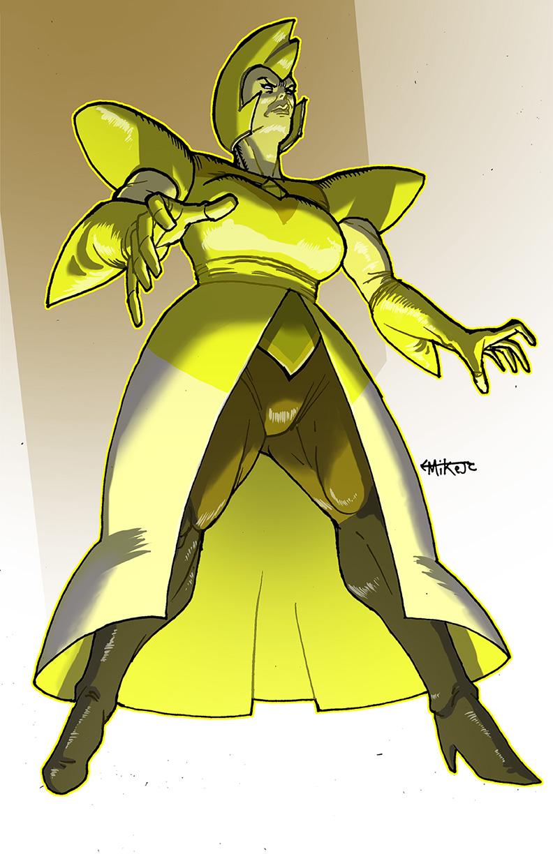 Art of michael johnson curry mike j c steven universe for Yellow diamond mural