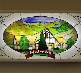 Midway Town Hall Stained Glass