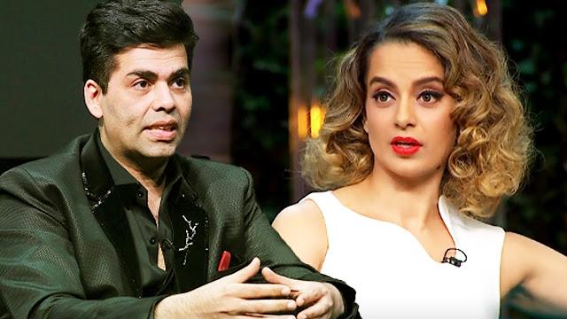 Karan Johar's Insulting Statement About Kangana Ranaut.