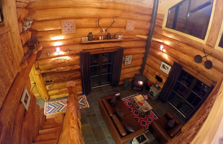 Eagle Brae Log Cabin Interior Scotland