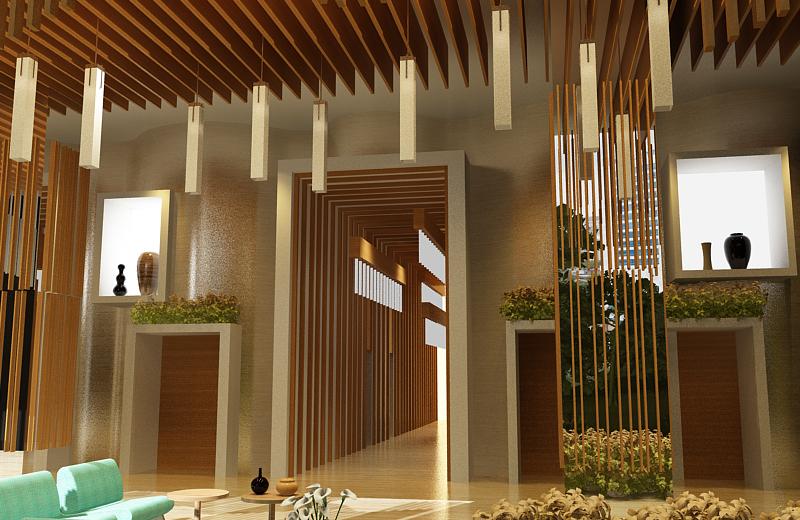 Prasetyo S Design Journal A Tropical Garden Lobby For Residential