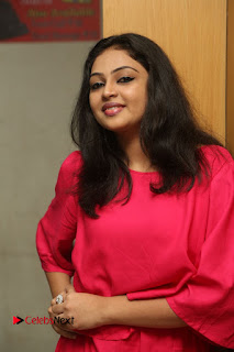 Actress Arundathi Nair Stills in Red Chididar at Bethaludu Success Meet  0022.JPG