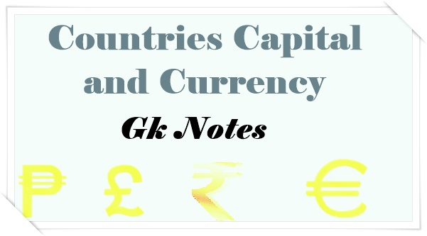 Countries Capital and Currency