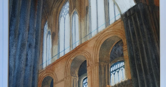 Norwich Cathedral Painting For Sale!
