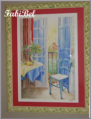 aquarelle scène intérieure watercolor windows