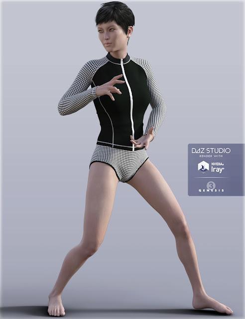 H/C Zip Front Rash Guards for Genesis 3 Female