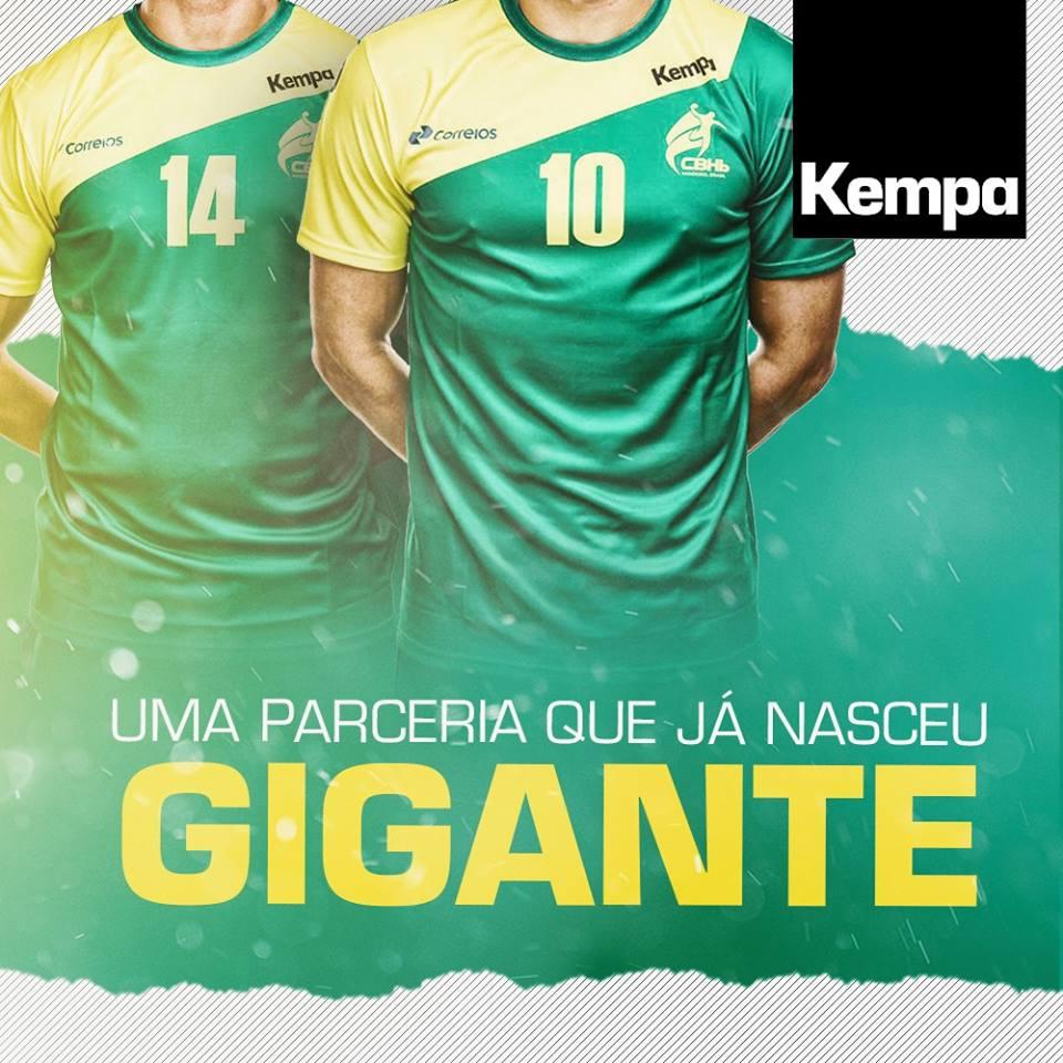 3d07ccdf23 Kempa lança as novas camisas da Seleção Brasileira de handball ...