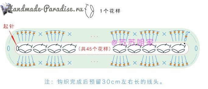 Вязаный крючком клатч. Схемы вязания (7)