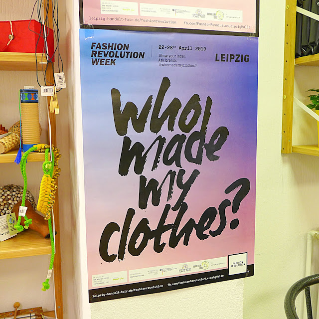 Plakat in Leipzig zur Fashion Revolution Week 2019