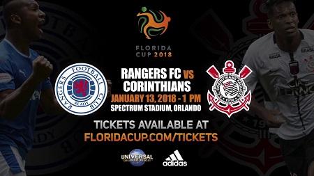 Assistir  Rangers x Corinthians ao vivo grátis em HD 13/01/2018