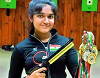 13 Year Old Esha Singh Wins 3 Gold Medals in National Shooting Championships
