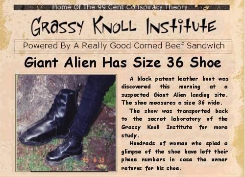 Giant Alien Wears Size 36 Shoes