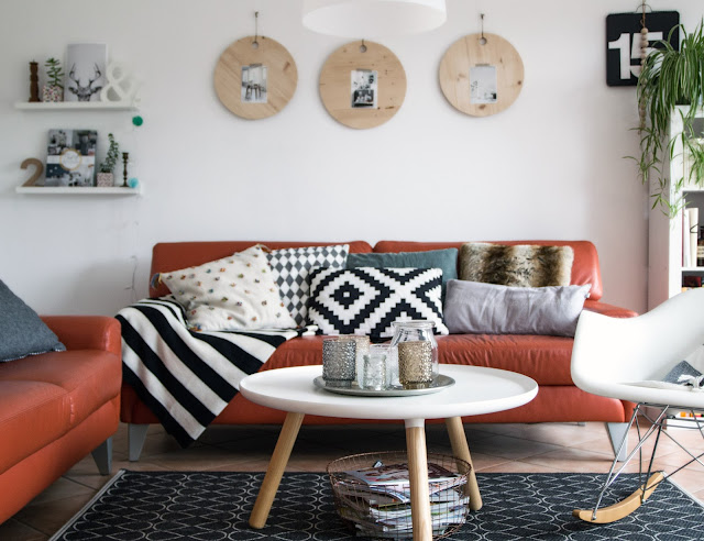 wohnzimmer, einrichten und dekorieren, skandinavisch wohnen und einrichten, Kissen Ikea, Eames chair