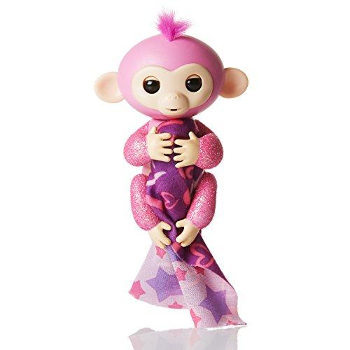 Fingerlings Interactive Baby Monkey Rose Glitter Bonus