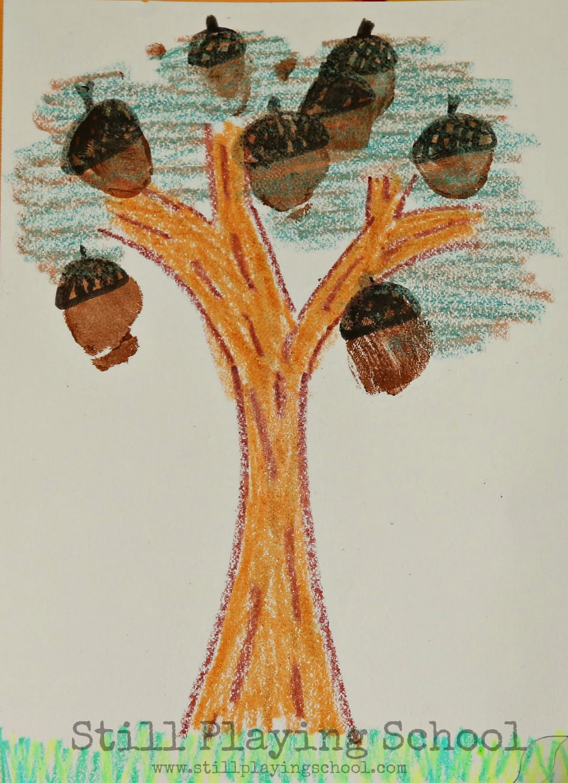 toeprint acorn keepsake craft for kids