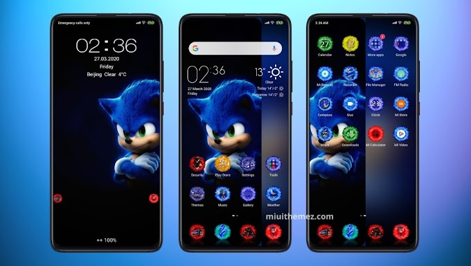 Sonic v11 MIUI Theme | Sonic Icons and Wallpaper Based Mi Theme