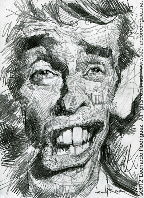 caricature jacques brel
