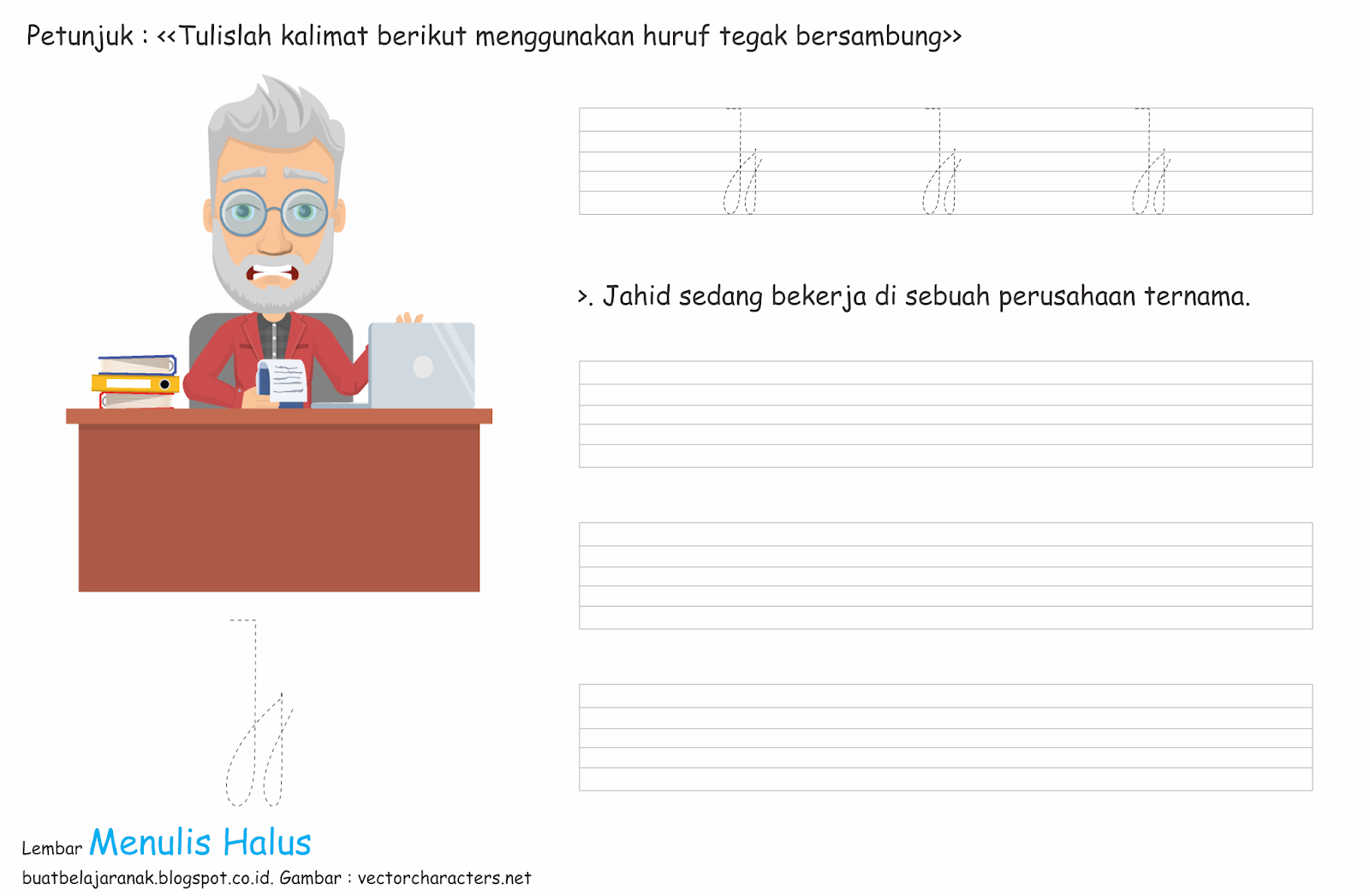 Worksheet Menulis Halus Edisi Spesial Bagian 5