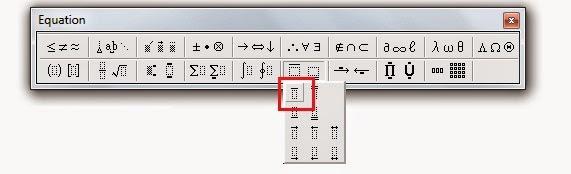 Cara Membuat Simbol X Bar Di Ms Office Dekatilmu