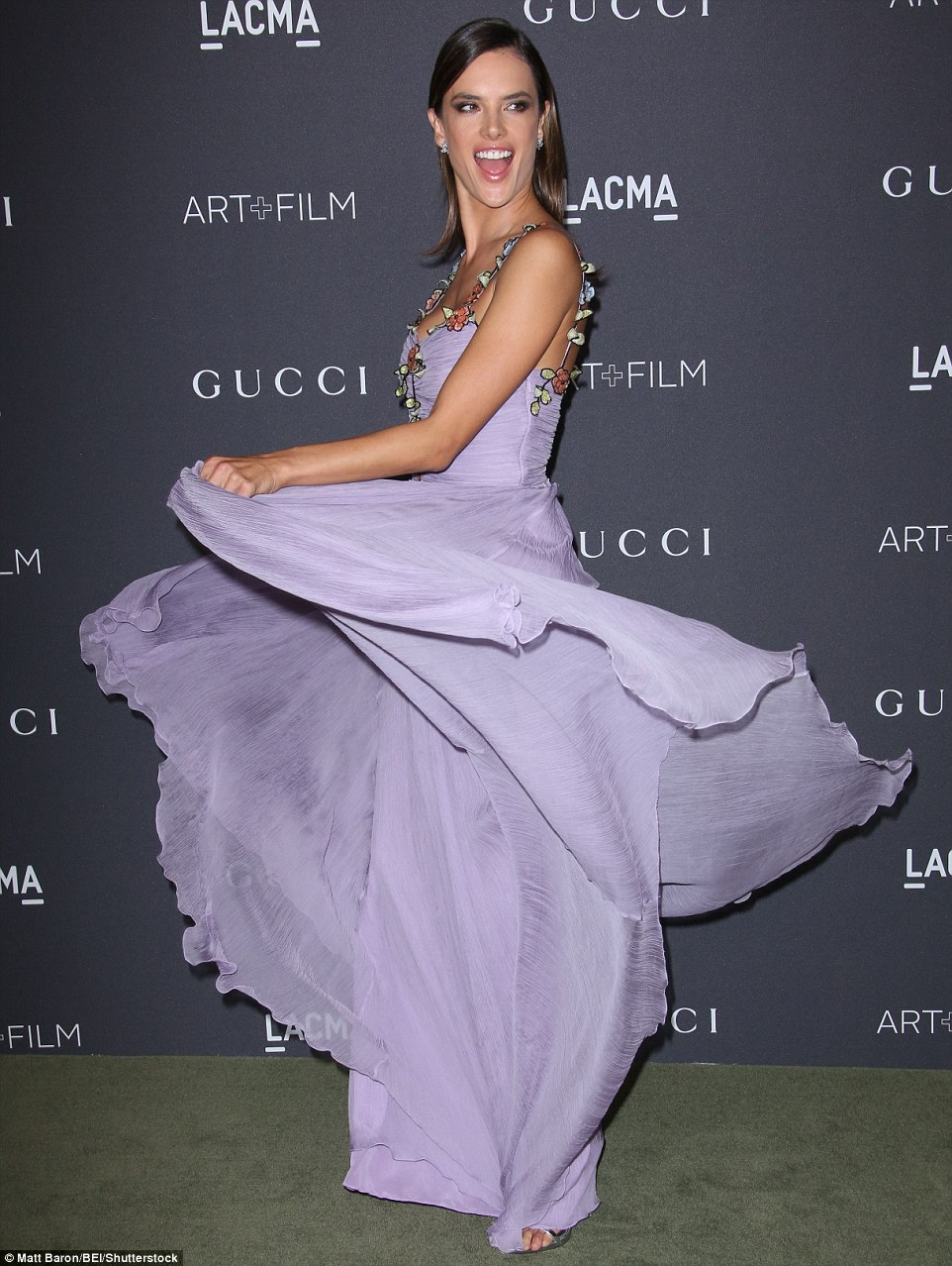 Alessandra Ambrosio puts bare back on show at the LACMA Art + Film Gala in LA