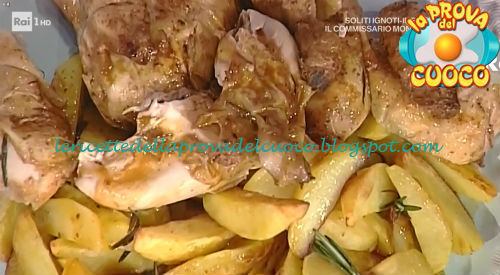 Pollo arrosto con patate ricetta Barzetti da Prova del Cuoco
