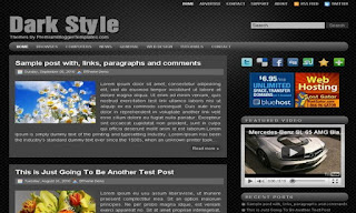 Dark Style Blogger Template