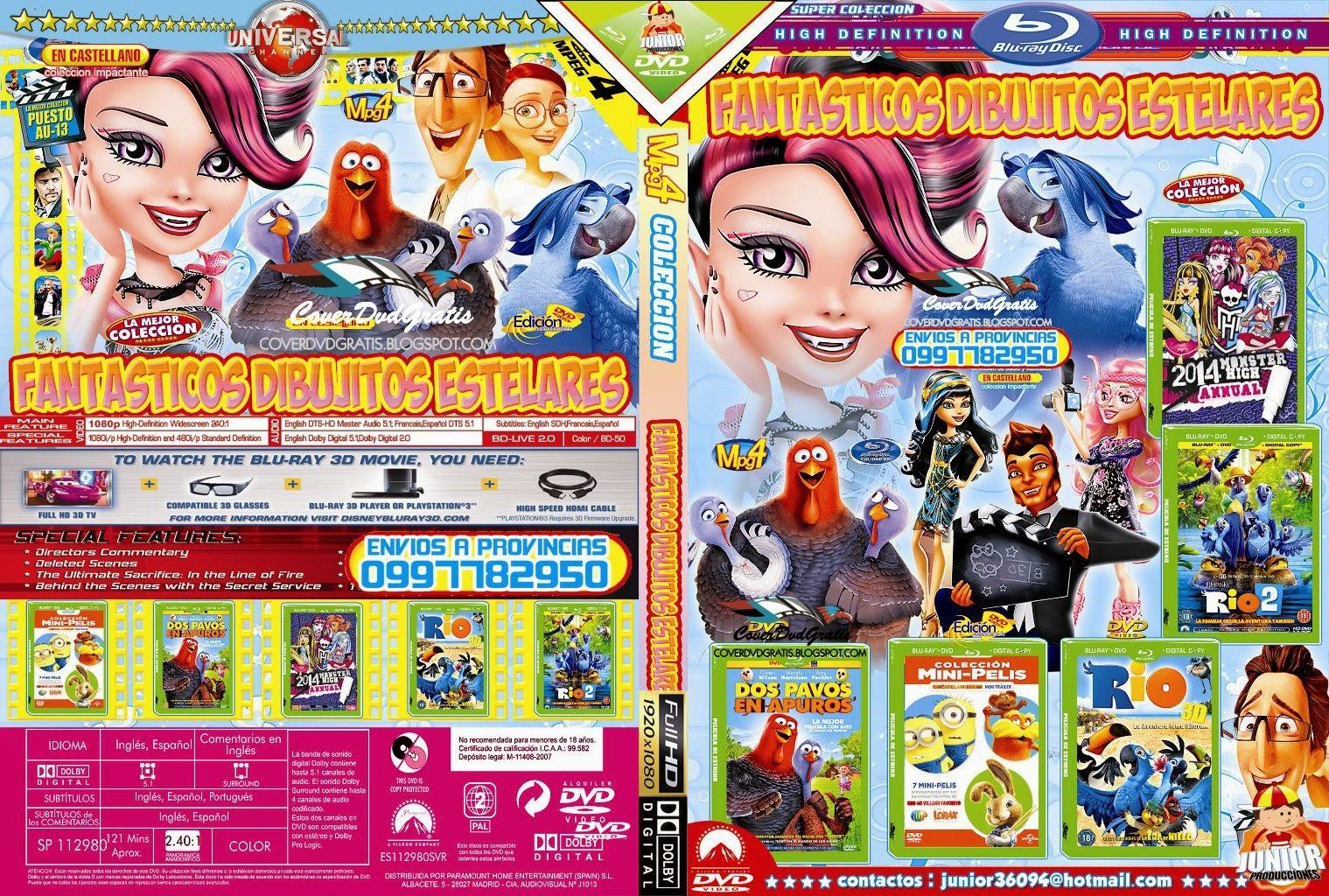 fantasticos dibujitos estelares dvd cover pack  💲🥇